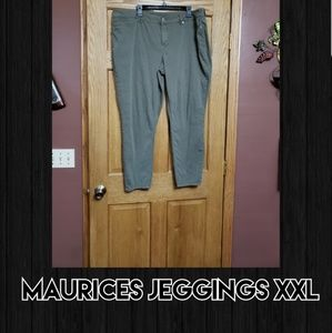 Maurices Green Jeggings XXL